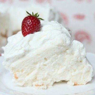 Angel Food Cake Icing I use is 2 egg whites 3/4 cup sugar 1/4 cup boiling water 1/4 teaspoon cream of tarter 1/4 vanilla Egg whites at room temperature in warm glass bowl, whip eggs and water till foamy, add cream tarter, vanilla and slowly add sugar while beating with mixer on high, beat till peaks.