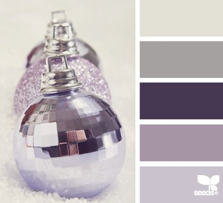 new year sparkle- Purple ornaments Color Palette - Paint Inspiration- Paint Colors- Paint Palette- Color- Design Inspiration