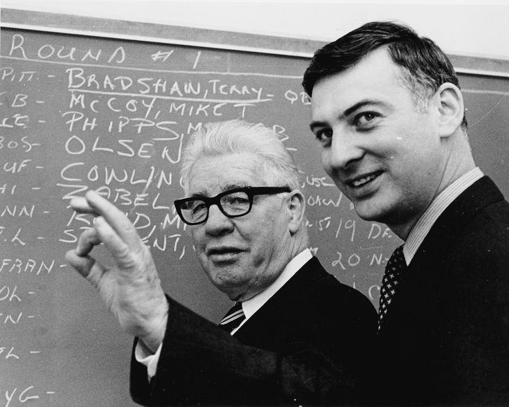 Draft Day 1970. Dan Rooney and Art Rooney