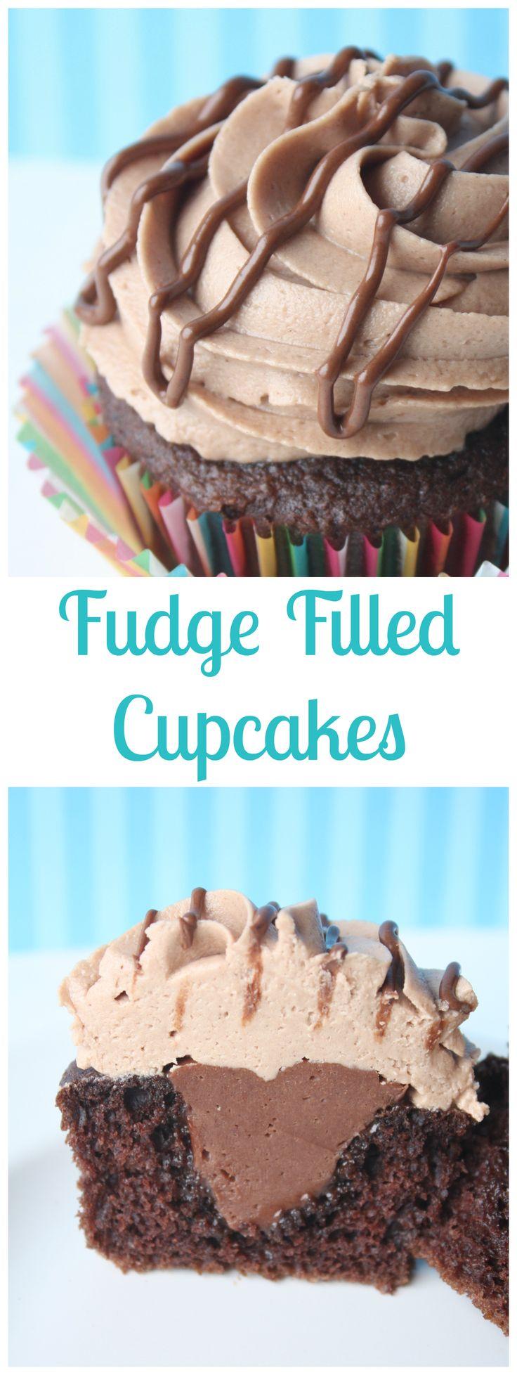 Fudge Filled Cupcakes