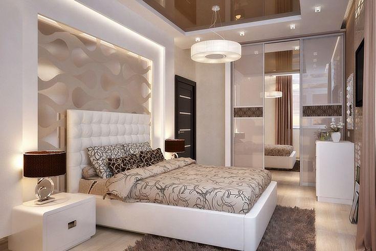 Chambre à coucher extrêmement sophistiquée couleurs neutres modern bedroom