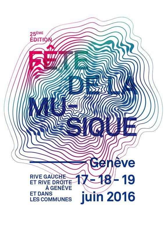 Affiche Fête de la musique Genève 2016 #juincreatif #fdlm