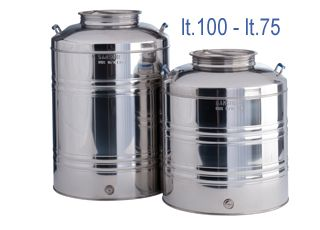 Sansone stainless steel Oil storage containers