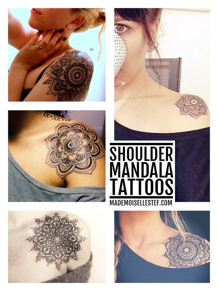 Shoulder mandala tattoo inspiration // Mademoiselle Stef - Blog Mode, Dessin, Paris | Tattoo Ideas