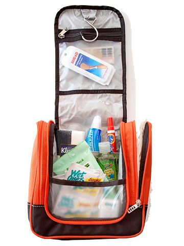 antimess kit stock a toiletry case with wipes a detergent pen a