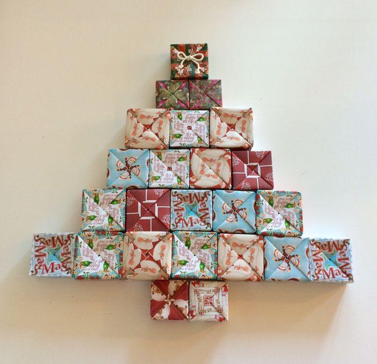 Calendario dell'avvento con 24 Eco Box-Advent 24 eco box calendar-Contdown to Christmas-Conto alla rovescia a Natale-Riutilizzabile-Reusable di EcoNaturaBio su Etsy