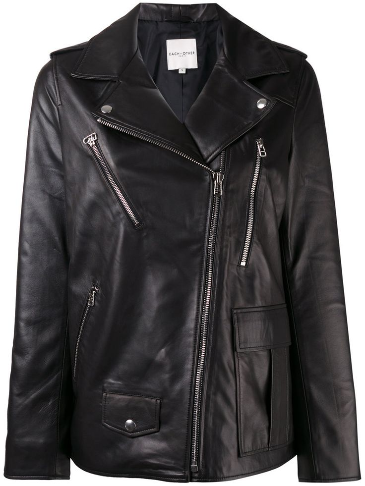 ¡Cómpralo ya!. Each X Other Other - Oversized Leather Jacket - Women - Lamb Skin/Acetate - XS. Black lambskin oversized leather jacket from Each X Other. Size: XS. Gender: Female. Material: Lamb Skin/Acetate. , chaquetadecuero, polipiel, biker, ante, antelina, chupa, decuero, leather, suede, suedette, fauxleather, chaquetadecuero, lederjacke, chaquetadecuero, vesteencuir, giaccaincuio, piel. Chaqueta de cuero  de mujer color negro de EACH X OTHER.