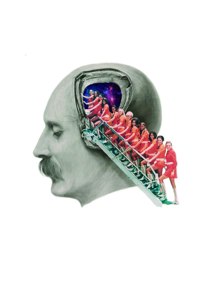 LOBOTOMY AIRLINES #anatomy #medicine #vintage #lobotomy #art #arte #collage