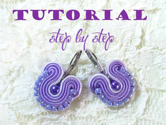 Tutorial Soutache Jewelry Earring Step by Step by RenaSoutacheArt