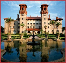 The former Hotel Alcazar was built in 1887 by railroad magnate Henry M. Flagler.  The hotel closed after many years of accommodating vacationing wealthy patrons.  In 1946 Chicago publisher Otto C. Lightner purchased the building to house his extensive collection of Victoriana.  He opened the museum two years later, and later gave the museum to the City of St. Augustine.