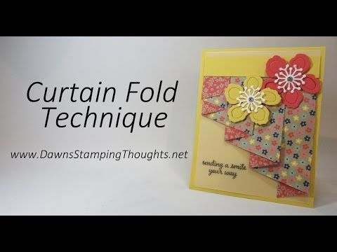 Curtain Fold Technique with Affectionately Yours Designer Paper from Stampin'Up! - YouTube