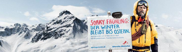 Sorry Frühling: Der Winter bleibt bis Ostern! spezieller Event mit #OpenFreerideSeries am 15./16.3.2014 im @Silvretta Montafon  www.springpowder.at