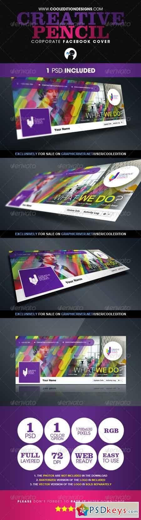 Creative Pencil - Corporate Facebook Cover 2855089