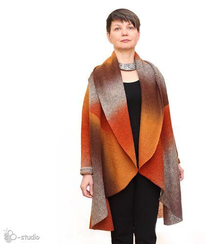 Only Handmade Тасмания Женское пальто вязаное шерстяное, большие размеры http://vk.com/ohmade
