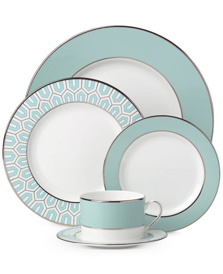 Brian Gluckstein by Lenox Dinnerware, Clara Aqua Collection - Dinnerware - Dining & Entertaining - Macy's