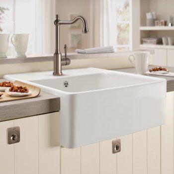 Villeroy & Boch Butler 60 1.0 Bowl White Ceramic Kitchen Sink - NO WASTE - Villeroy & Boch from TAPS UK
