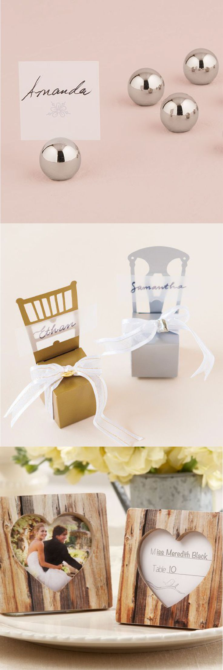 help your wedding guests find their seats with pretty place card holders go rustic with