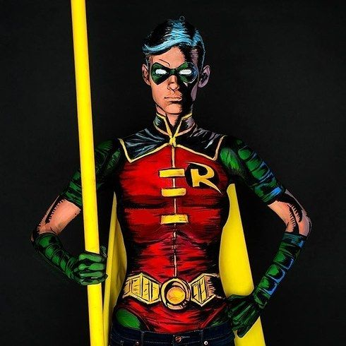 """Because her """"costumes"""" are created entirely from body paint — and they are freakishly accurate. 