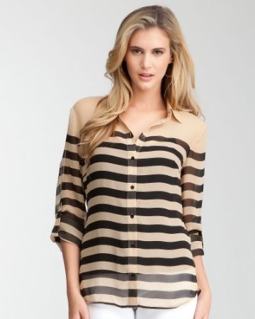 Sheer stripes, so chic!