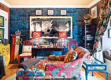 Bright Patterned Living Room Décor | from New York Magazine | photo Dean Kaufman | House & Home