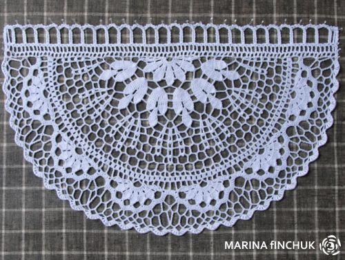 Knitted Cafe Curtains.  Блокировка вязаных штор.