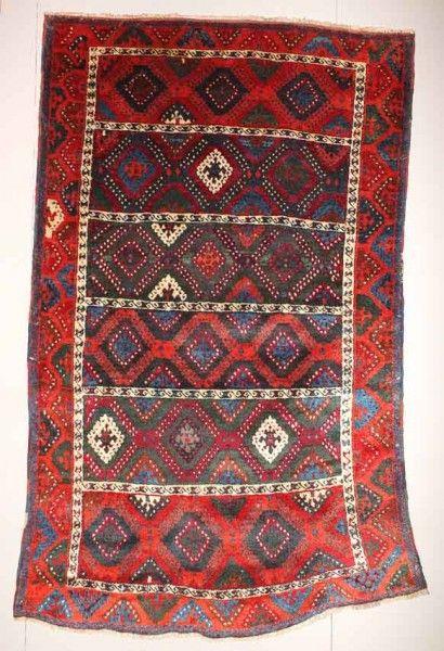 Kurdish, East Anatolia 19th century exhibited by Augusto Rillosi. Rugs and carpets on display at Sartirana Textile Show