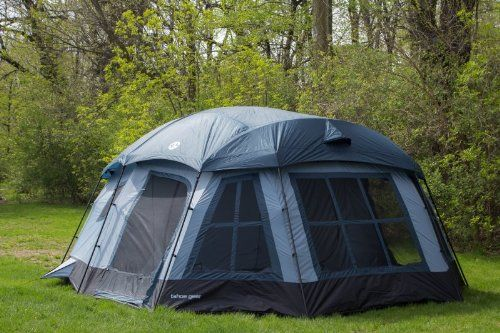 Large families cabin tent and gears on pinterest for Permanent tent cabins