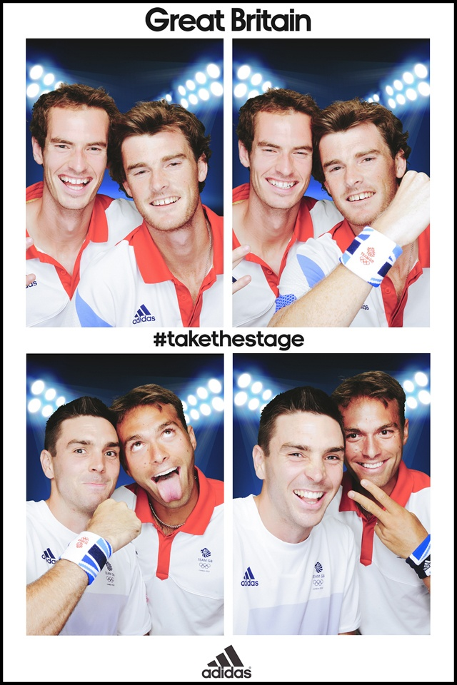 Team Great Britain #takethestage in the adidas photobooth