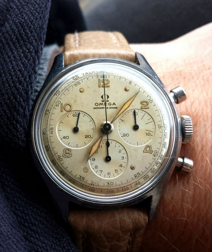 Vintage OMEGA Calibre 321 French Market Chronograph In Stainless Steel