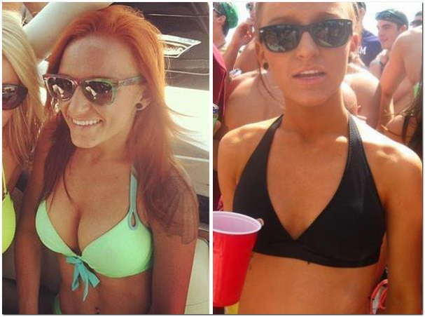 [Right] Maci Bookout before plastic surgery