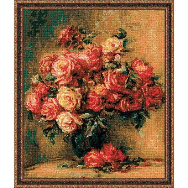 Риолис 1402 Букет роз по мотивам картины Пьера Огюста Ренуара