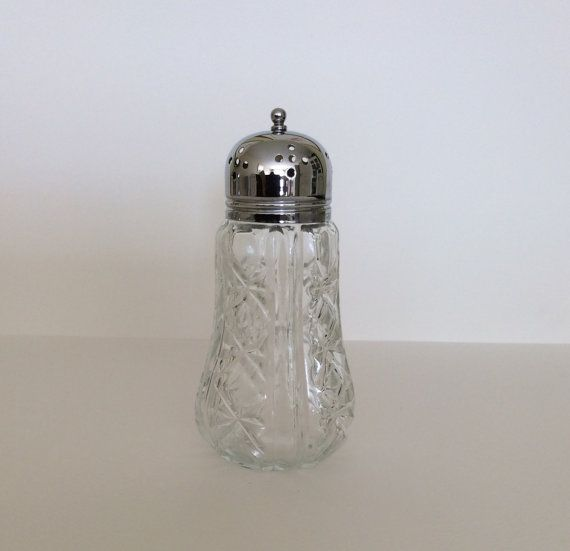 French antigue cut glass sugar shaker  / by SouthofFranceFinds
