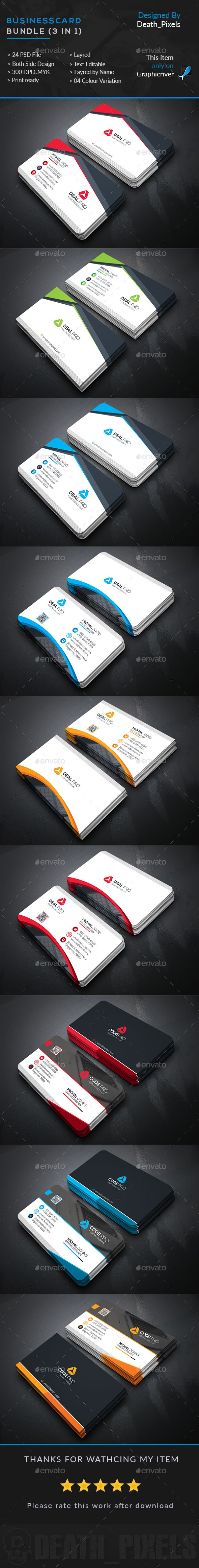 3 Business Card Templates PSD. Download here: http://graphicriver.net/item/business-card-bundle-3-in-1/16534274?ref=ksioks