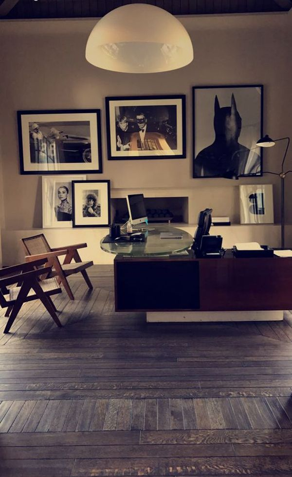 Masculine Home Office For A Man
