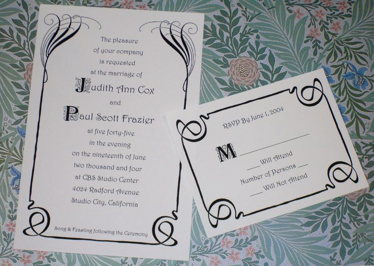 Custom Wedding Invitations For Theme Weddings Renaissance Medieval