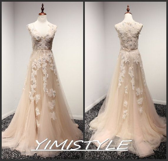 Champagne Colored Prom Dresses Poofy Fashion Dresses