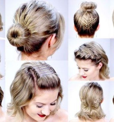 11 Super easy hairstyles with bobby pins for short hair // 11 Szuper egyszerű frizura hajcsatokkal (rövid hajhoz) // Mindy - craft tutorial collection // #crafts #DIY #craftTutorial #tutorial