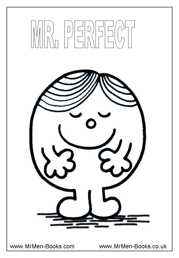 mr men coloring pages - photo#10