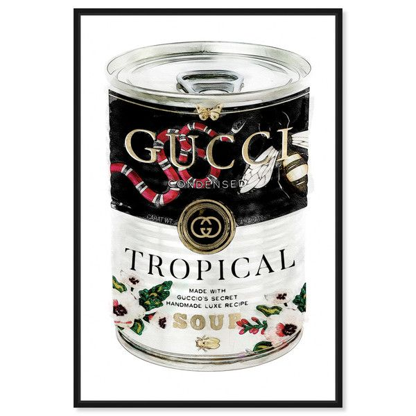 Italian Luxe Soup Fashion And Glam Wall Art By Oliver Gal Gucci Art Gucci Artwork Gucci Wall Art Gucci C Oliver Gal Wall Art Canvas Prints Glam Wall Art
