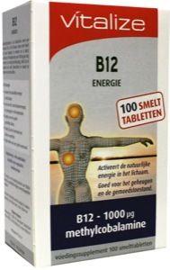 Description: Methylcobalamine is de bioactieve vorm van vitamine B12 in het lichaam. Deze vorm hoeft niet meer omgezet te worden en is daarom direct werkzaam. Een dosering van 1000 µg per dag bevordert de energiestofwisseling helpt bij de aanmaak van rode bloedcellen en steunt de opbouw van zenuwcellen. Vitamine B12 komt uitsluitend voor in dierlijke producten. Mensen die minder goed vitamine B12 opnemen veganisten en vegetariërs kunnen baat hebben bij een dagelijkse inname van B12 Energie…