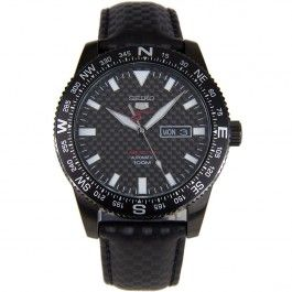 Seiko 5 Sports SRP719 SRP719J1 Limited Edition Carbon Fiber Dial Watch