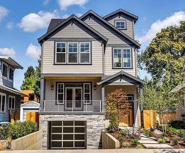 For An Uphill Skinny Lot - 85091MS | Northwest, Narrow Lot, Photo Gallery, 2nd Floor Master Suite, Bonus Room, CAD Available, PDF, Sloping Lot | Architectural Designs
