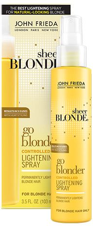 How It Works: John Frieda Go Blonder Controlled Lightening Spray for my belayage