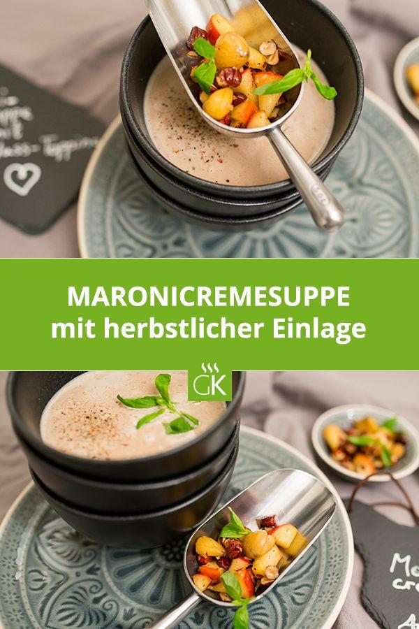 Für alle Maroni-Liebhaber ist diese herzhafte Maronicremesuppe ein absolutes Muss im Herbst. #Maroni #Cremesuppe #Herbst #Maronicremesuppe