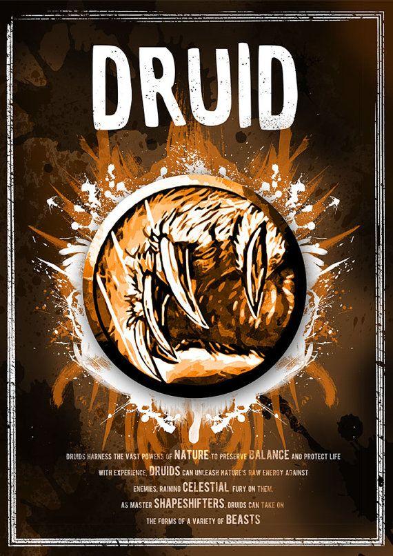 World of Warcraft: Druid Class Symbol print/poster by SodaArcade