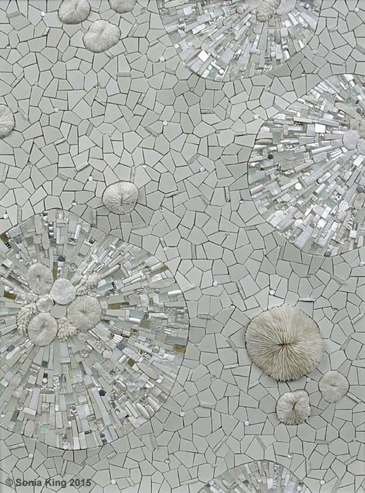 Permafrost mosaic by Sonia King Mosaic Artist
