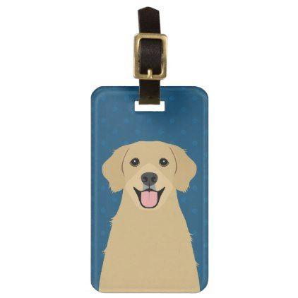 Golden Retriever Travel Luggage Tag  $14.90  by LeeArtHaus  - cyo customize personalize diy idea