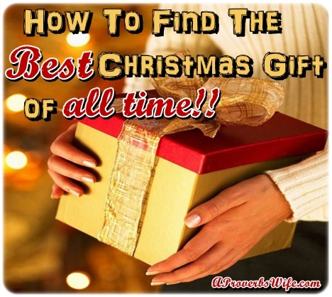 How to Find the Best Christmas Gift of All Time http://aproverbswife.com/2012/12/how-to-find-the-best-christmas-gift-of-all-time.html