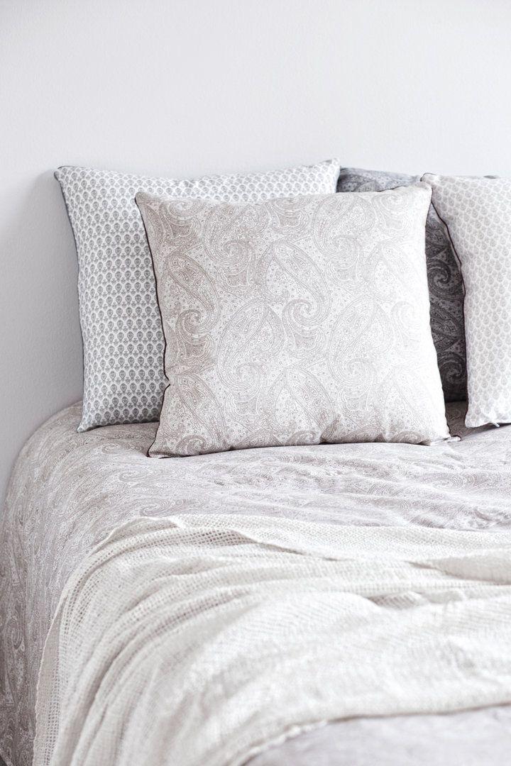 PETRA beige #lennol #spring #paisley #bedspread #cushion