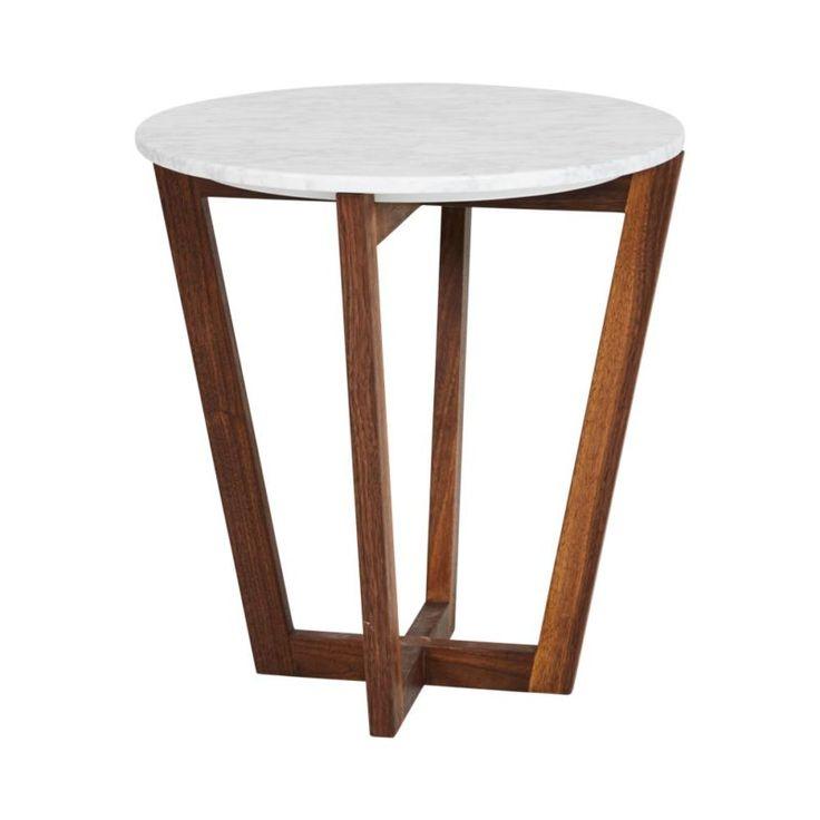 modern designer round italian marble side table walnut wooden base italian marble marbles. Black Bedroom Furniture Sets. Home Design Ideas